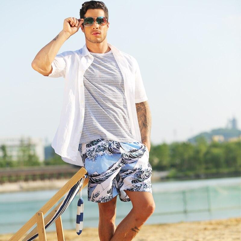 Hot Summer men beach shorts for beachwear prints surf bamudaer boxer swimming shorts for swimming water sports gym shorts