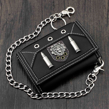 Men's Leather Wallet w/ Safe Chain 1