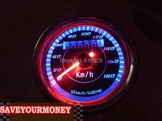 LED Backlight Motorcycle performance meter Odometer Speedometer Gauge parking meter for Harley davidson