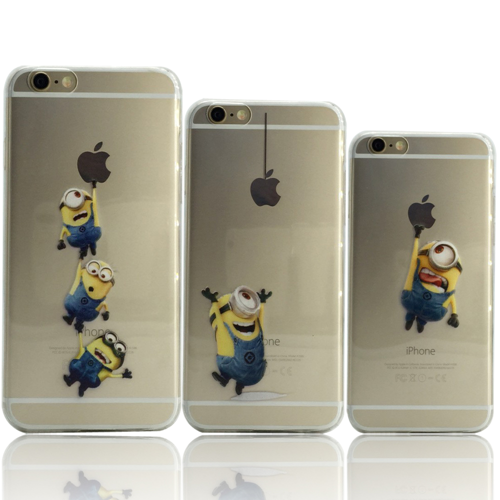 14e045f363ac Hot Sale New Cute Minions cases for iPhone 6s 4.7 inch cover for iphone 6  Soft TPU back case for iphone6 by Akcoo
