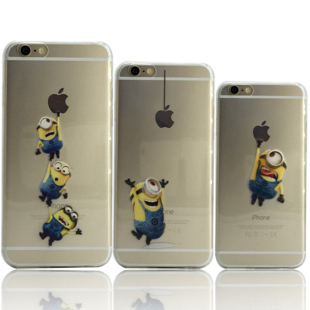 25413a470f Hot Sale New Cute Minions cases for iPhone 6s 4.7 inch cover for iphone 6  Soft TPU back case for iphone6 by Akcoo