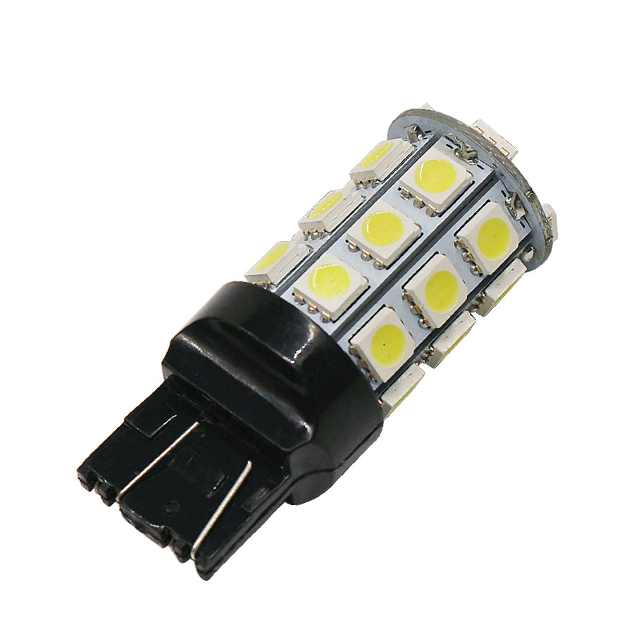 2PCS/Lot W21/5W 7443 7440 T20 27SMD 5050 Super Bright LED Bulb Car Light Source Turn Singal Brake Backup Parking Stop Lights image