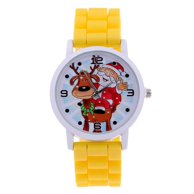 Fashion Christmas Gift Children Watches Jelly Christmas Bracelet Quartz Watch Sa