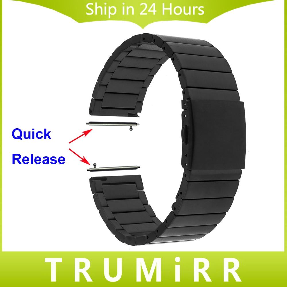 22mm Stainless Steel Watch Band for Moto 360 2 Gen 46mm 2015 Samsung Galaxy Gear 2
