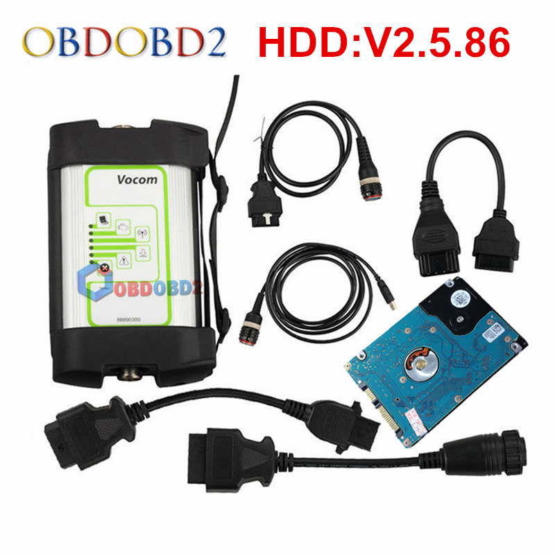 V2.5.86 For Volvo 88890300 Vocom Interface Truck Diagnostic Tool For Renault/UD/Mack/Volvo Vocom Online Update Free Ship