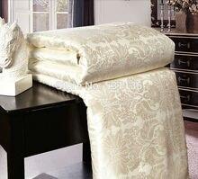 Cuatro colores manta acolchada colchas edredón de seda de morera de verano y de invierno king queen completo twin size edredón ropa de cama conjunto