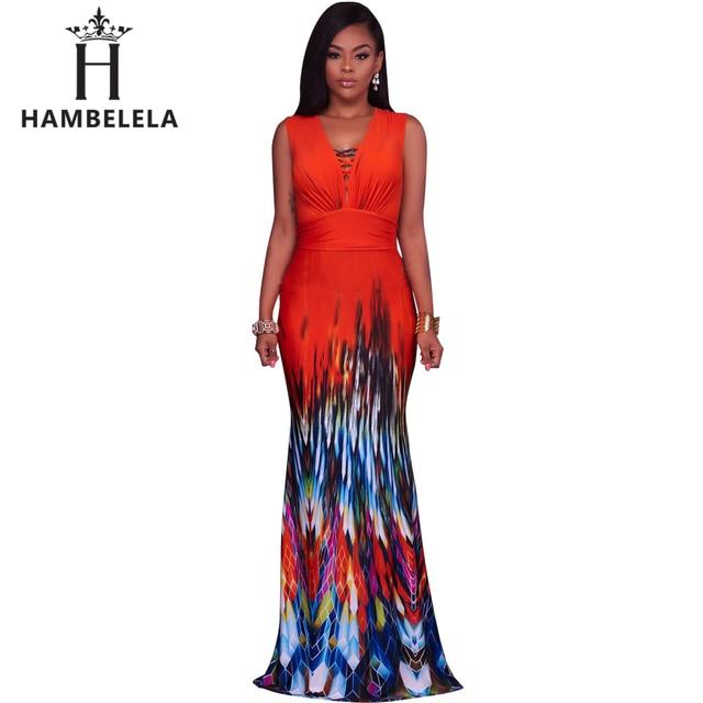 dc7939dab2a HAMBELELA Women Summer Maxi Dress 2017 Off Shoulder Bodycon Bandage Dresses  Vestido Sexy Sundress Dashiki Boho Long Party Dress