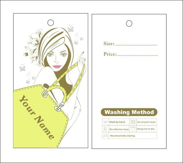 Benutzerdefinierte druck hängen tags preis label dame kleidung shop ...
