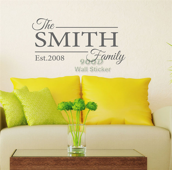Aliexpress.com : Buy Personalized family name wall sticker, home ...