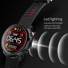 LEMDIOE L5 sport smart watch continuous heart rate monitor  IP68 waterproof watch for android ios Spherical full touch screen