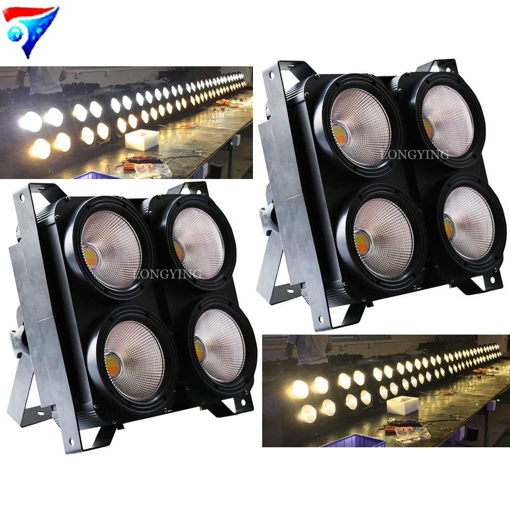 4 Eye LED Cob Background Light 4*100W Led Par light Stage Effect Lights TV show Fill light