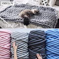 500g thick super Bulky chunky yarn for hand knitting Crochet soft big cotton DIY Arm Knitting Roving Spinning yarn for blanket