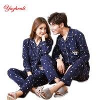 New Autumn Winter Lovers Pajamas Women Long Sleeve Pajama Sets Casual Couple Pajamas For Men Sleepwears
