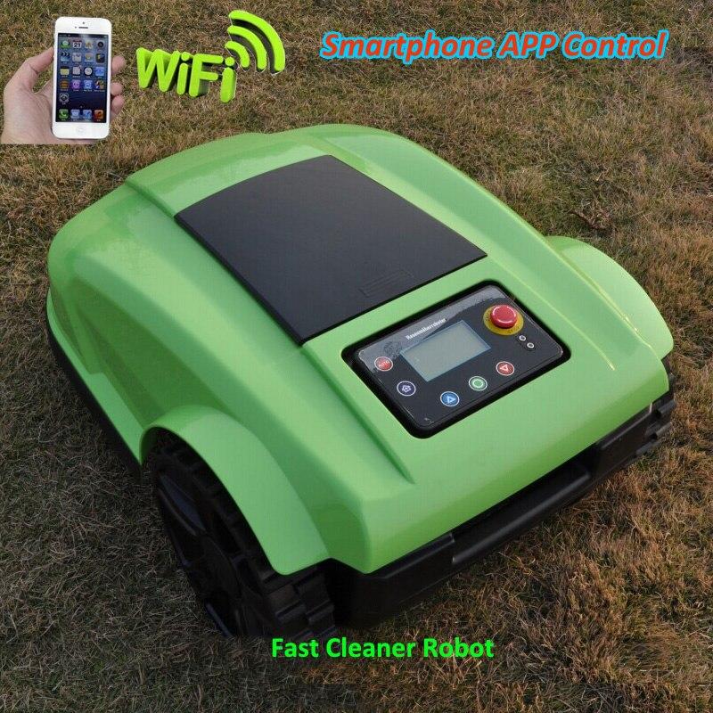 Couleur verte 4th génération WIFI contrôle robot tondeuse S520 coupe-verre avec calendrier de tonte, écran LCD, charge étanche