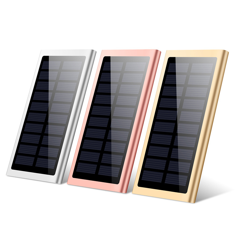 20000mah Solar Power Bank External Battery Quick Charge Dual USB Powerbank Portable Phone Charger for Smartphone Xiaomi iPhone