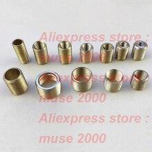 M4 m5 m6 m8 para m10 m12 m14 adaptador de parafuso oco de bronze interno conector de rosca exterior parafuso porca parafuso adaptador conversor