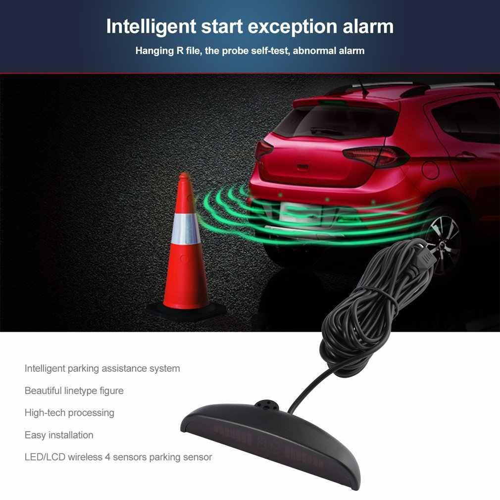 Car Parking Sensor System with 3 Ultrasonic Sensor on EU Plate Frame LED  Reversing Radar Vehicle European License Plate Frame