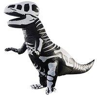 Halloween Speelgoed Opblaasbare Skelet Rex Kostuum Grappig Kostuum Cosplay Opblaasbare Pak