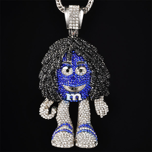 Iced out mm figure necklaces pendants with 36 snake chains full iced out mm figure necklaces pendants with 36 snake chains full crystal bling hip mozeypictures Choice Image