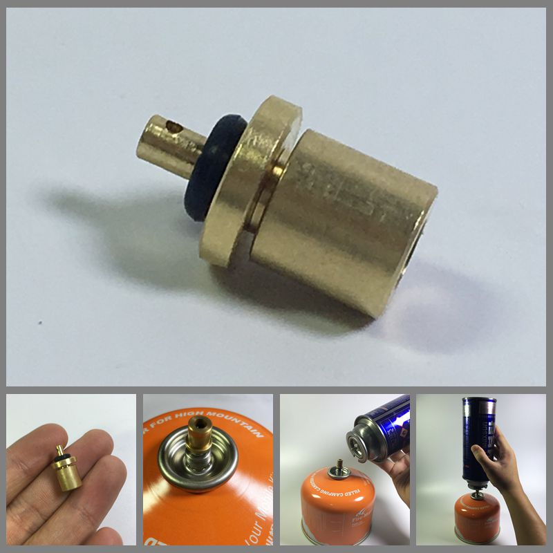 YT Gas Refill Adapter for Outdoor Camping Stove Gas Cylinder Gas Tank Gas Burner Accessories Hiking Inflate Butane Canister
