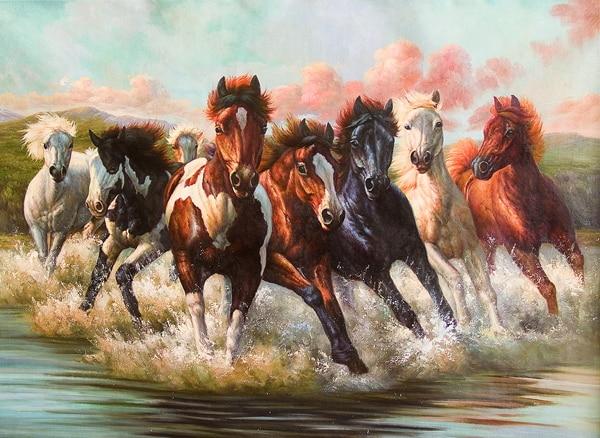Aliexpress.com : Buy Eight Horse run for success wall ...