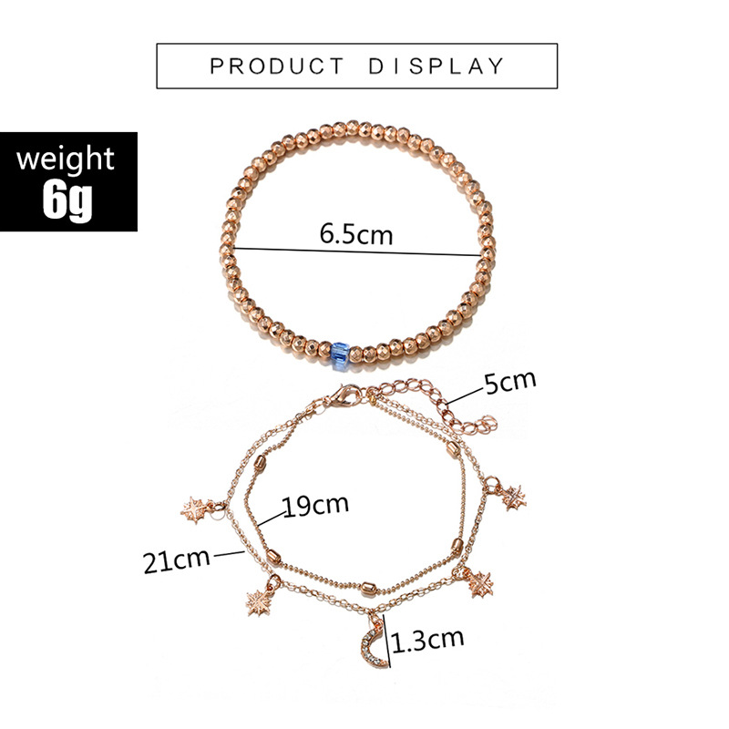 New Boho Multilayer Shell Beads Anklets For Women Moon Sun Vintage Beach Rope Ankle Bracelet on Leg Summer Foot Jewelry 4