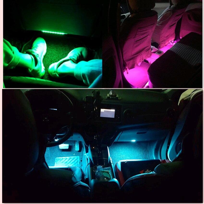 Voiture LED Bande Lumières Auto RGB Atmosphère lampe pour vw golf 6 toyota renault scenic 2 opel vectra c vw lupo chrysler 300c passat