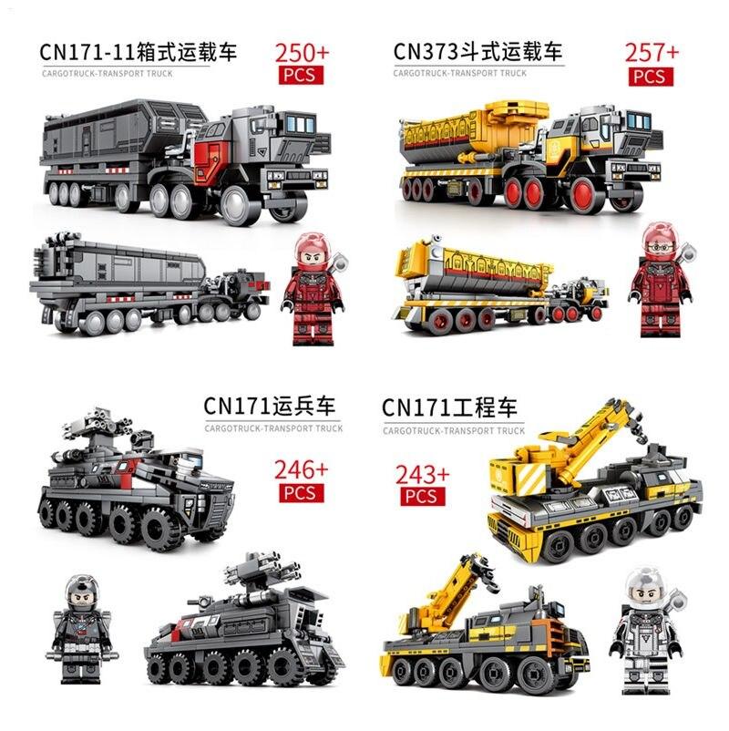 En STOCK DHL 9 style la terre errante véritable autorisation transporteur camion modèle blocs de construction technique briques éducatives jouet