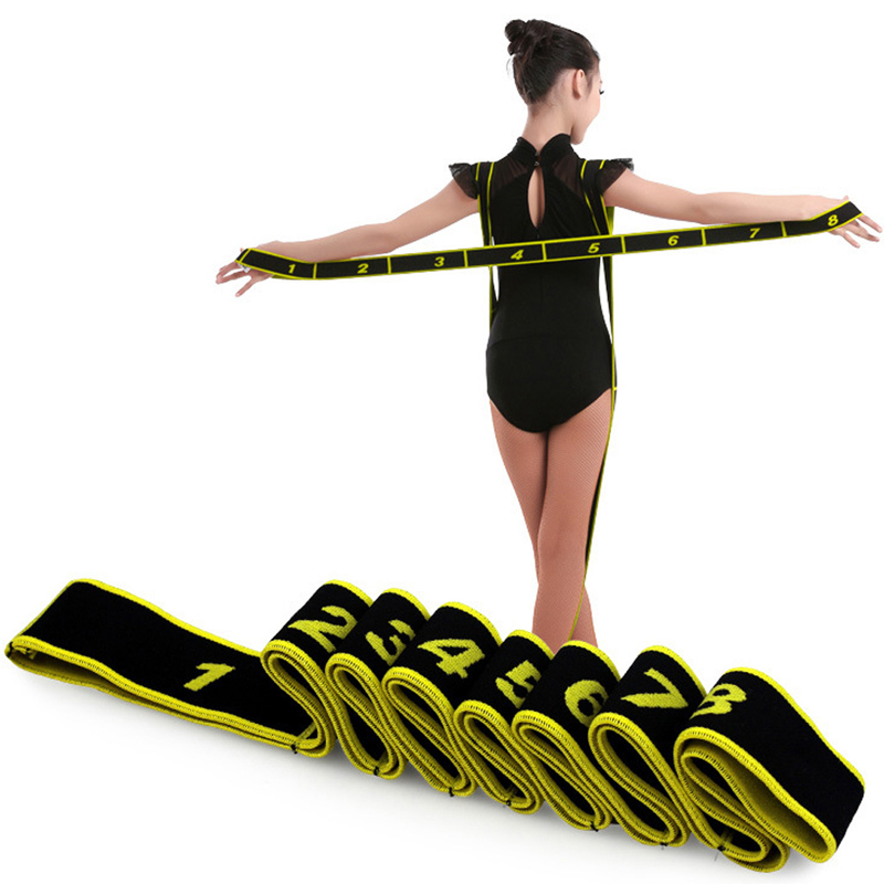 Gymnastics Adult Latin Training Bands Pilates Yoga Stretch Fitness Elastic Band 'zt