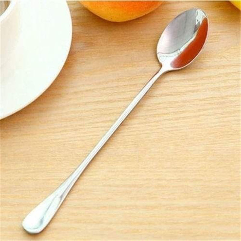 2015 new Delicate Korean 2PCS Stainless Steel Long-handled Students Stirring Spoon lovely  cutlery  free shipping