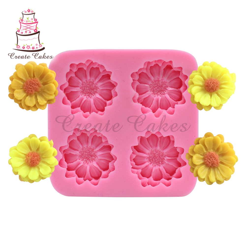 Food Grade Daisy Flower Silicone Mold For Wedding Cake Decoration