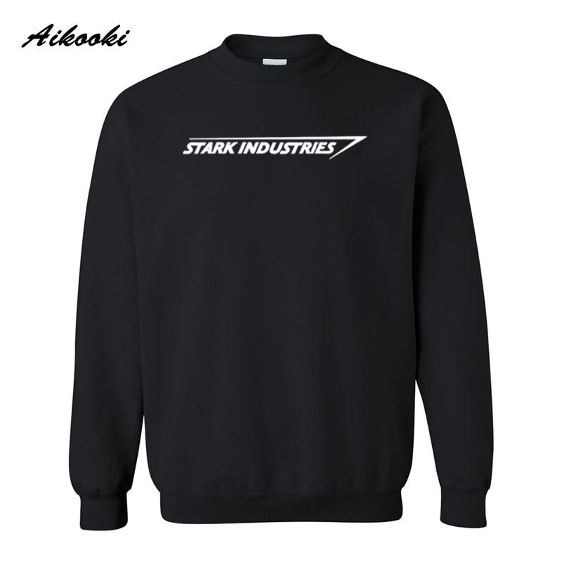 STARK INDUSTRIES TONY STARK IRON Sweatshirt Autumn Fashion Long Sleeve MENS Fleece Street Wear Hoodies Sweatshirts Plus Size 4XL