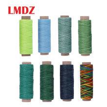 LMDZ 150D 50m Sewing Thread Wax Line DIY Handmade Wear-Proof Leather Sewing Flat Wax Thread DIY Craft Tool Sewing Threads