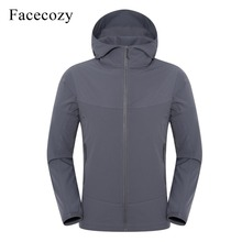 Facecozy Men 2019 Thin Windbreaker Ultra-light Elastic Nylon