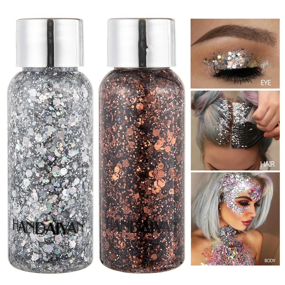 Chunky Body Glitter For Art Sequins Laser Flash Powder Face Glitter Shimmer Shine UV Body Paint Festival Hair Glitter Cosmetic