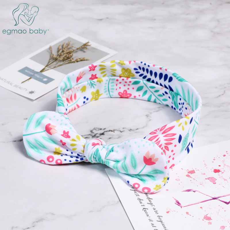 Lovely Bowknot Elastic Head Bands For Baby Girls Headband For Children Tuban Baby Baby Accessories Floral Hair Hearband Hairbelt
