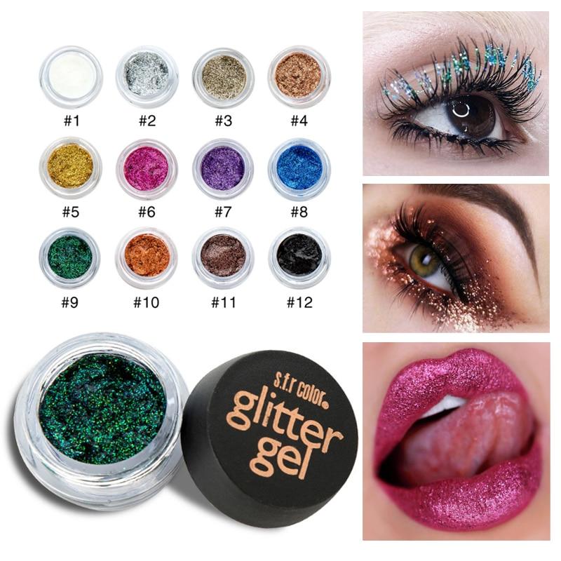 Beauty Essentials Eye Shadow Handaiyan 6 Color Diamond Glitter Eyeshadow Palette Gold Shine Eyeshadow Glitter Shiny Eyeshadow Purple Blue Eye Shadows