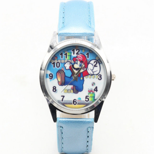 2018 Child Watch Quartz Watch Child Cute Cartoon Super Mario Watch Girl Boy Watc