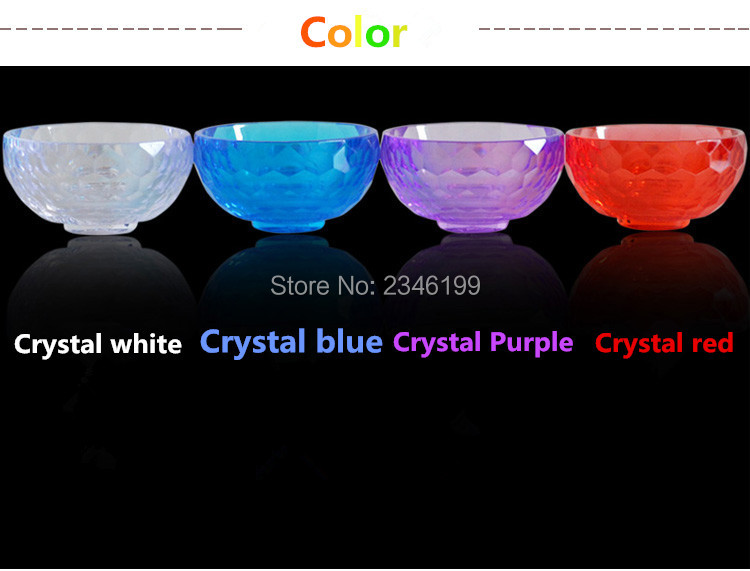 5pcs/Lot Colorful Acrylic Crystal Bowl Mask Essential Oil SPA Bowl For Beauty Salon Mix Dish Cosmetic Makeup Tools saffron essential oil deep water locking moisture facial mask pack 10 pcs