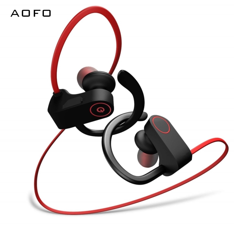 AOFO <font><b>Bluetooth</b></font> Kopfhörer, <font><b>Gym</b></font> Workout HD Stereo in Ear Ohrhörer Leichte & Schnelle Paarung Noise Cancelling Headsets image