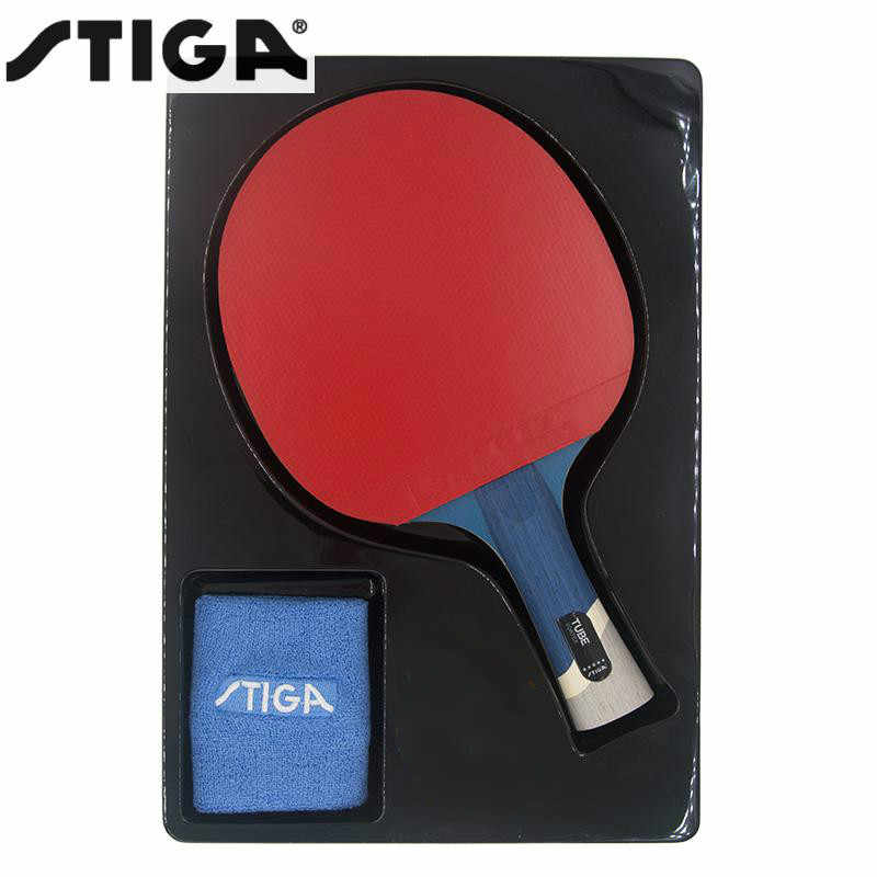 Genuine STIGA pro tube 5 STARS high quality table tennis racket Raquete De Ping Pong with Bracers Table Tennis carbon Blade