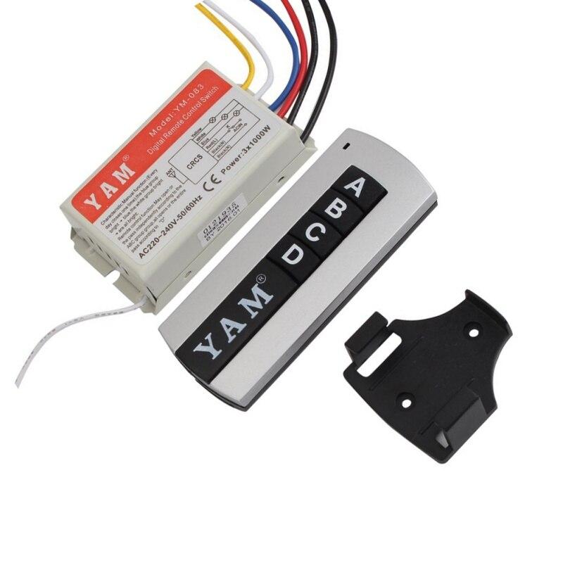 220 V DIY 1/2/3/4 Ways ON / OFF Remote Digital Wireless Remote Control Switch Control Switch for Light Bulb 3 ways digital wireless wall remote control switch ac 200 240v intelligent d