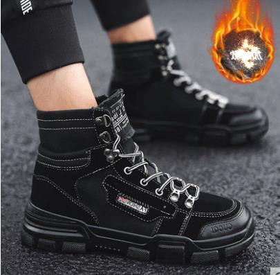 Fashion Men Low Flat Ankle 2018 Winter Autumn Work Boots Casual Martin Shoes Men Fashion Male work Boots size 39-44 4