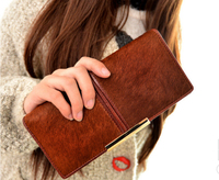 2018 fashion women's long wallet ladies real horsehair money clip