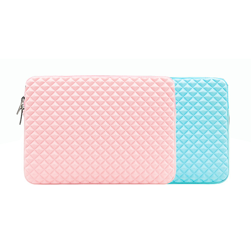 Diamond Pattern Laptop Sleeve Computer Bag Notebook Pouch Sleeves Case for Apple Macbook HP ASUS for Dell Lenovo Xiaomi Air Pro