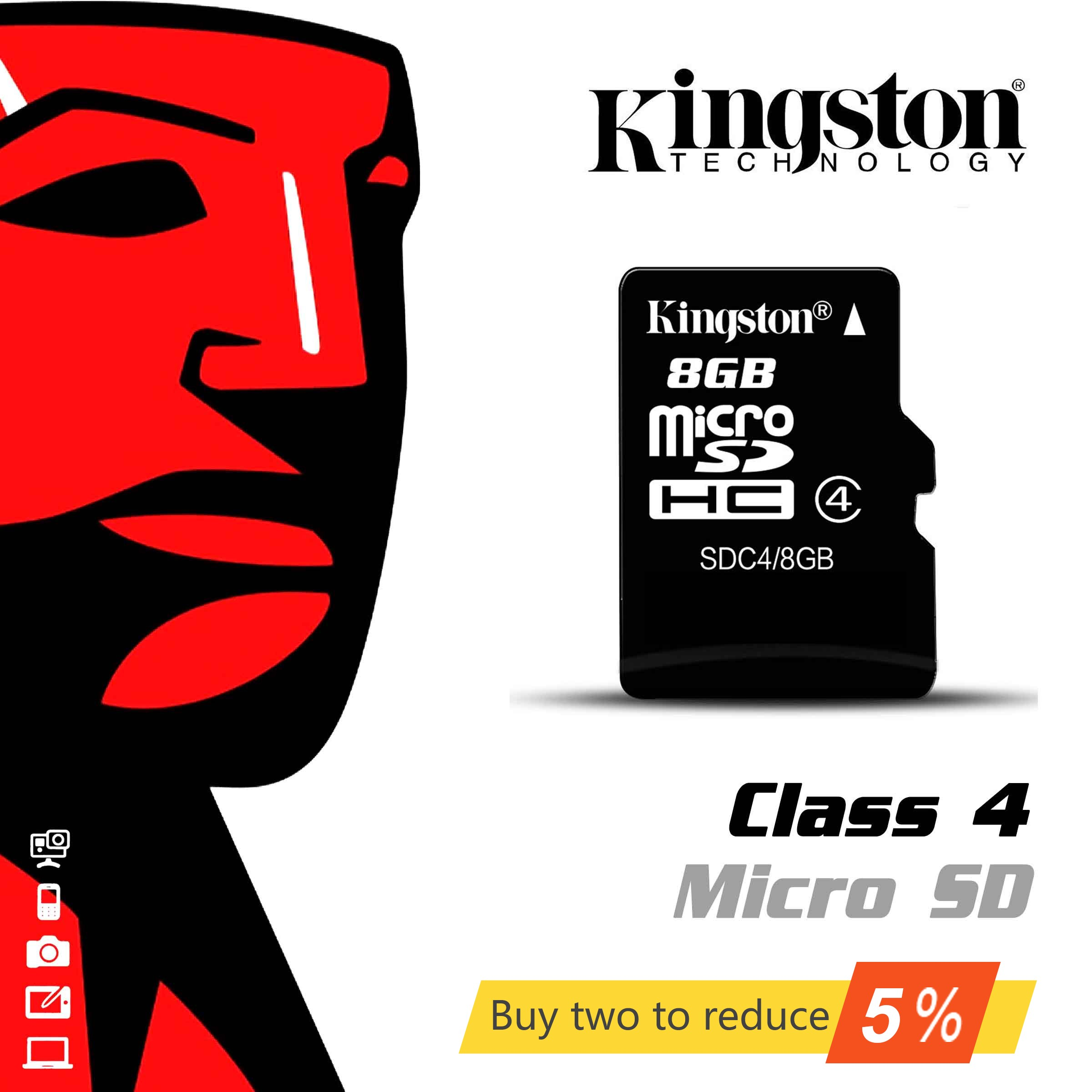 Competent Originele Kingston Microsd-kaart Digitale 8 Gb Klasse 4 C4 Mini Sd-kaart Cartao De Memoria Kaart Uhs-i Sdhc Flash Kaart Voor Smartphone