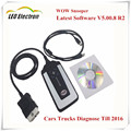 Top Quality! 2017 Newest V5.008 R2 WoW SNOOPER With Bluetooth Keygen Car Truck Diagnostic Tool New WOW VCI Better Than TCS CDP