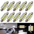 "10pcs 42mm C5W C10W Canbus No Error Festoon 8 Led 5050 Smd Car Licence Plate Light Auto 1.7"" Interior Dome Lamp Reading Lights"