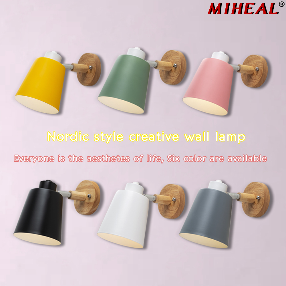 Modern Wood Wall Lamp Nordic style Indoor Lighting Bedside LED Wall Light for Children Reading Bedside Fixture Bedroom 2