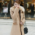 2014 Korean Vivi Fur Collar Women's Wool Coat 2014 Mode Fashion Woollen Coat Ccdd